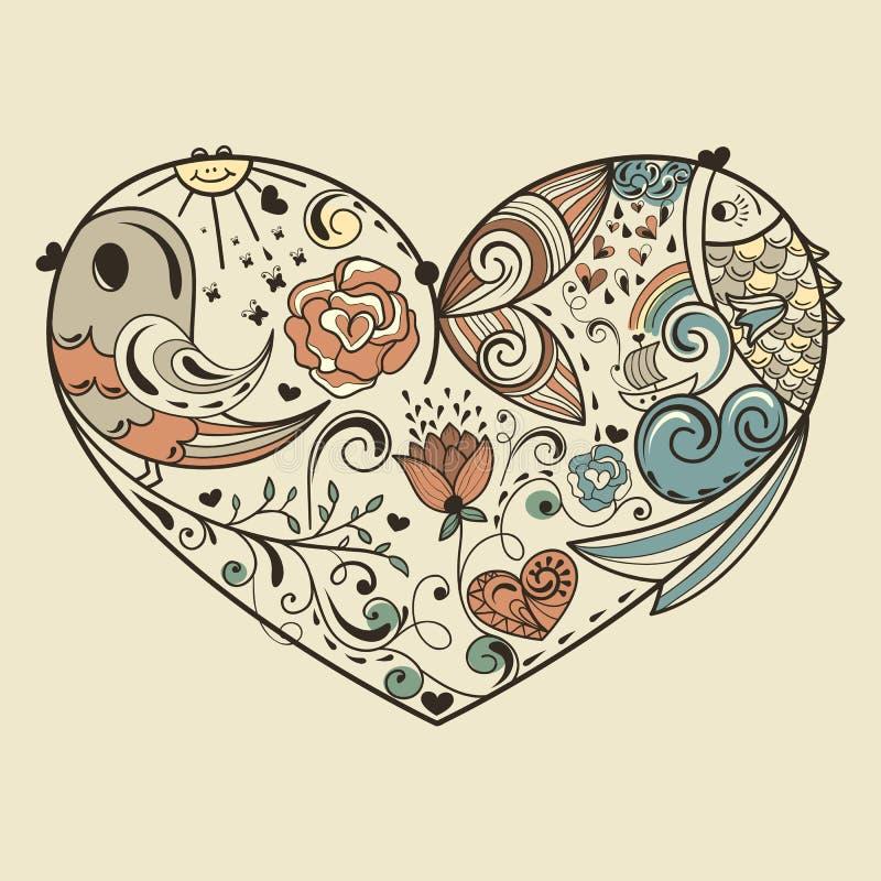 Allegorical hjärta vektor illustrationer