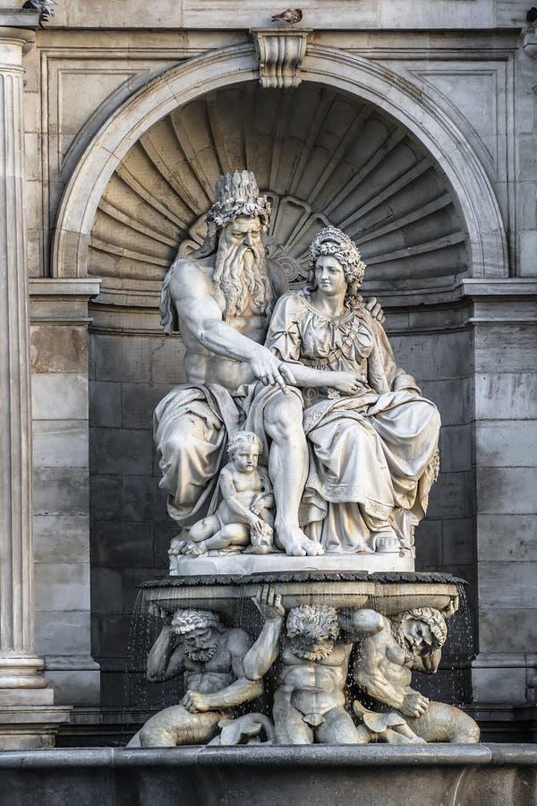 Allegorie van de Donau royalty-vrije stock foto's