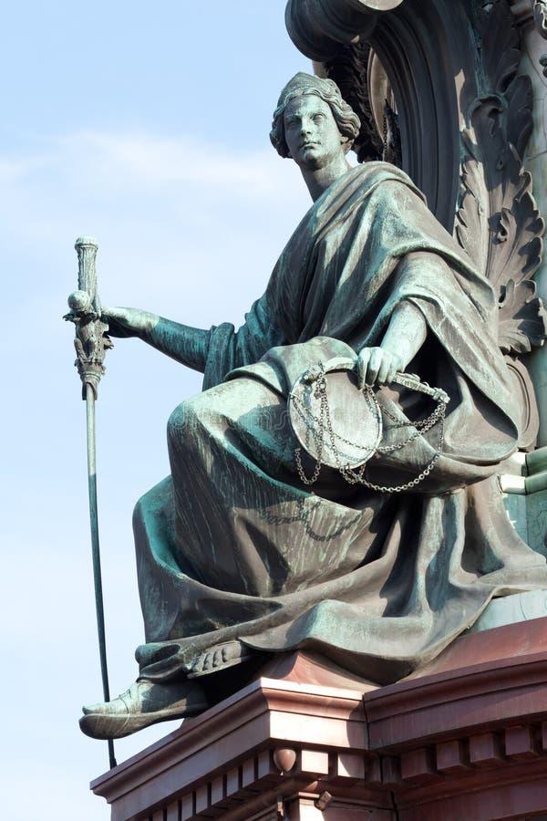 Allegorie van Rechtvaardigheid stock afbeeldingen