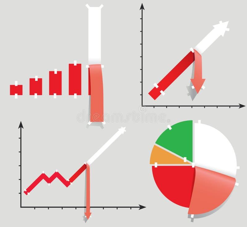 allegorikrisen diagrams den pessimistiska seten royaltyfri illustrationer