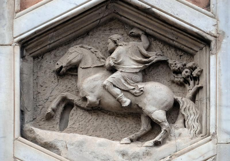Allegory of Hunting, Cattedrale di Santa Maria del Fiore in Florence royalty-vrije stock afbeelding