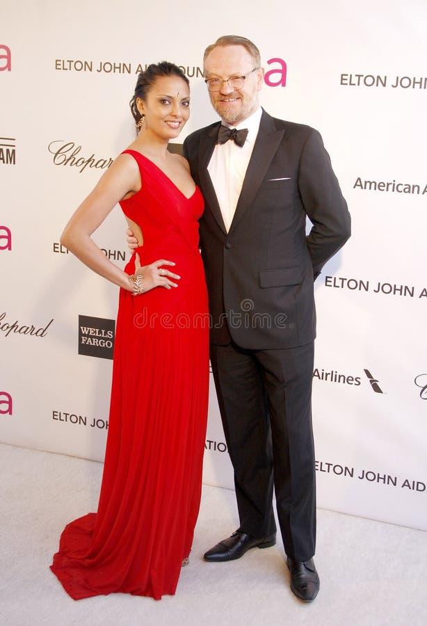 Allegra Riggio en Jared Harris stock foto