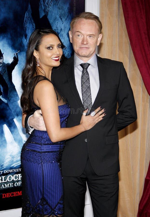 Allegra Riggio en Jared Harris royalty-vrije stock foto