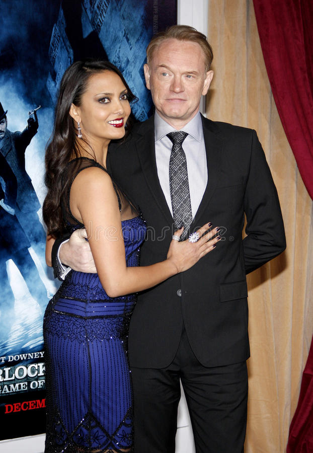 Allegra Riggio and Jared Harris. At the Los Angeles premiere of 'Sherlock Holmes: A Game Of Shadows' held at the Regency Village Theatre in Westwood on November royalty free stock photo