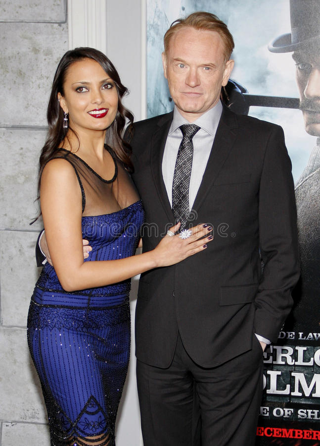 Allegra Riggio and Jared Harris. At the Los Angeles premiere of 'Sherlock Holmes: A Game Of Shadows' held at the Regency Village Theatre in Westwood on November stock photos