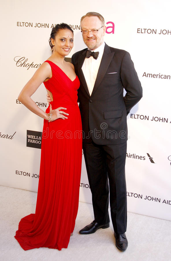Allegra Riggio and Jared Harris. At the 21st Annual Elton John AIDS Foundation Academy Awards Viewing Party held at the Pacific Design Center in West Hollywood royalty free stock image