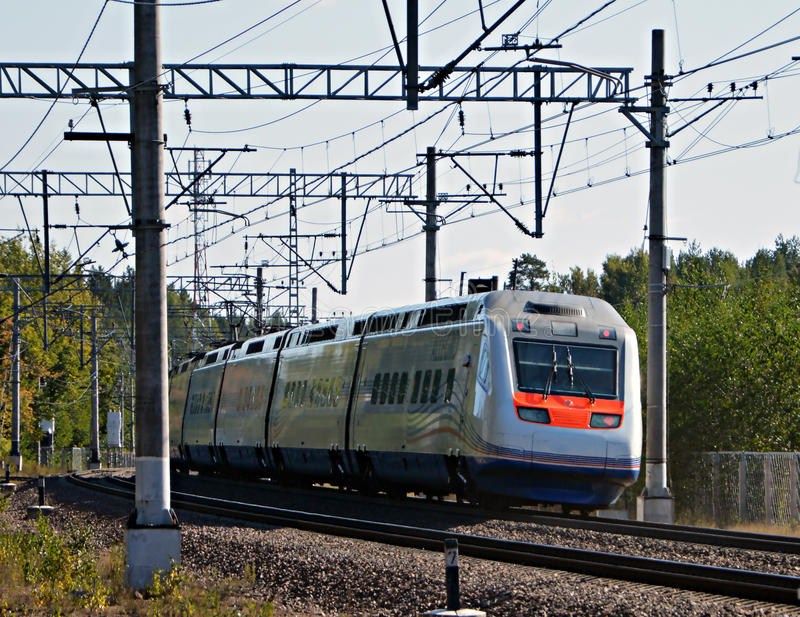 Allegro del treno fotografie stock