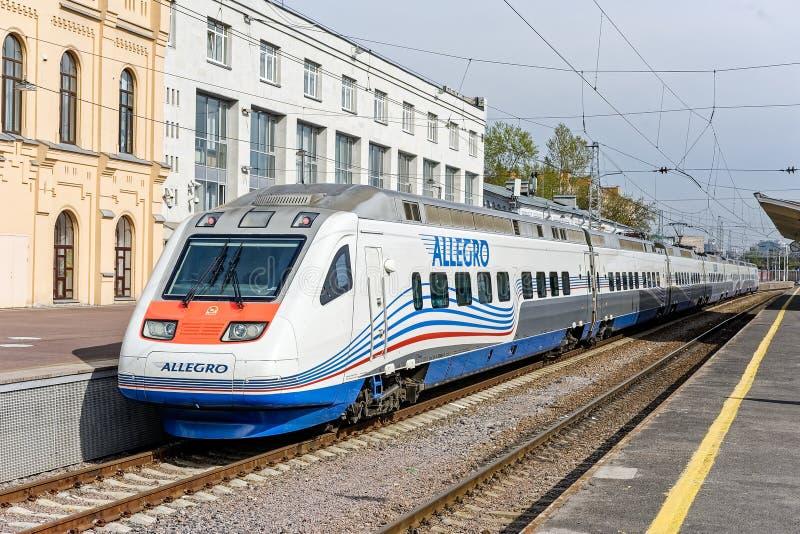 Allegro high-speed train in Saint-Petersburg royalty free stock images