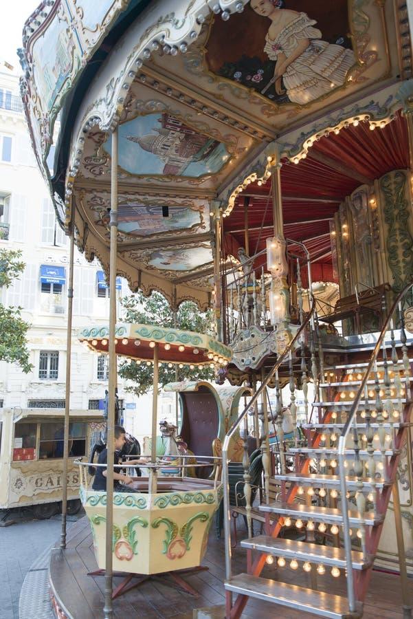 Allegro va il giro a Marsiglia, Francia fotografia stock