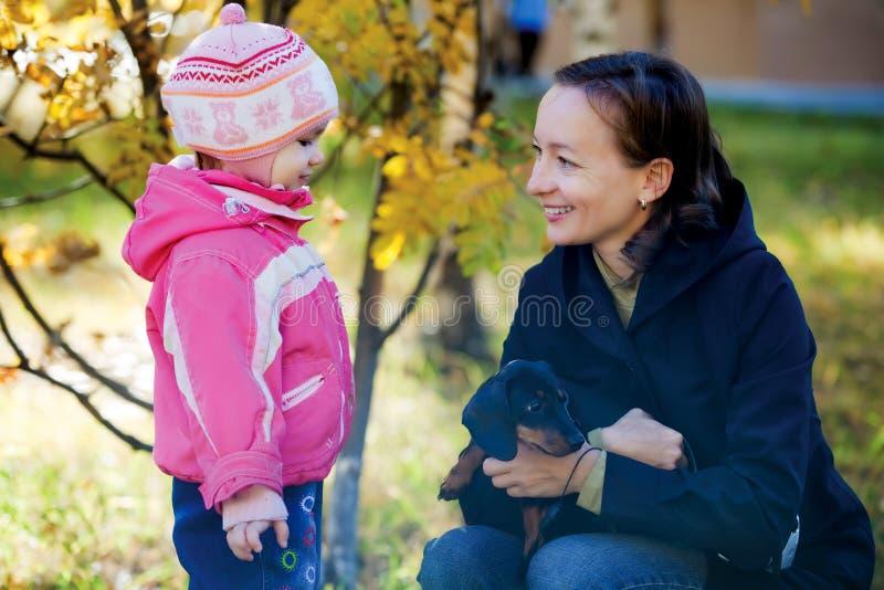 Allein erziehende Mutter-Familien-Portrait stockfotografie