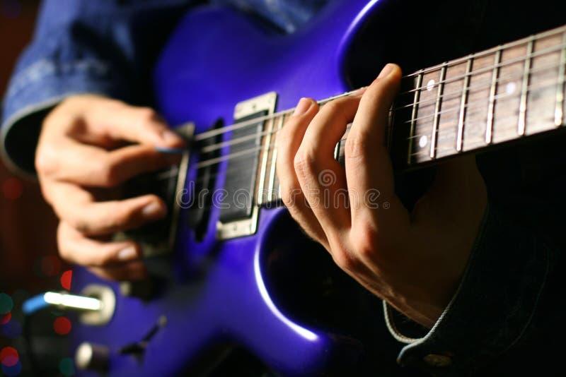 Allein Gitarrist stockbilder