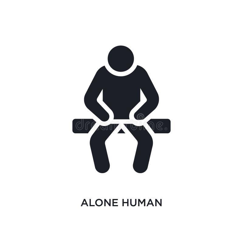 allein menschliche lokalisierte Ikone einfache Elementillustration von den Gefühlskonzeptikonen allein menschlicher editable Logo lizenzfreie abbildung