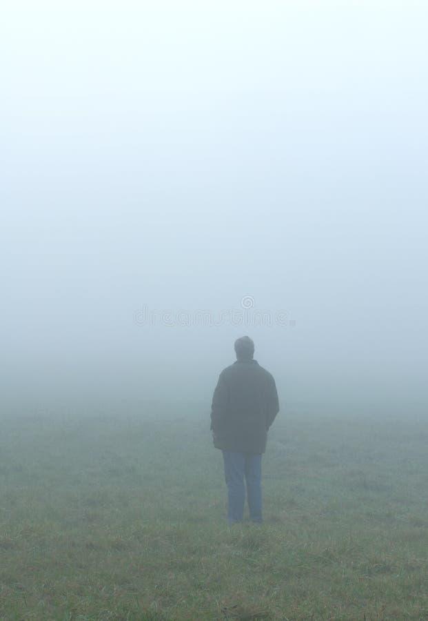 Alleine im Nebel lizenzfreies stockbild