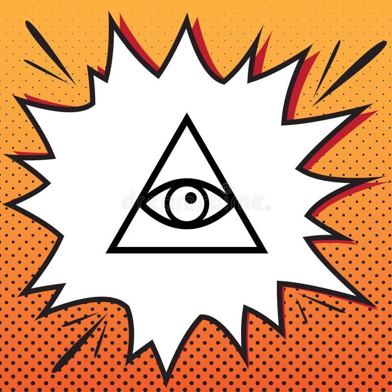 Allen die het symbool van de oogpiramide zien Vrijmetselaar en spiritual Vector vector illustratie