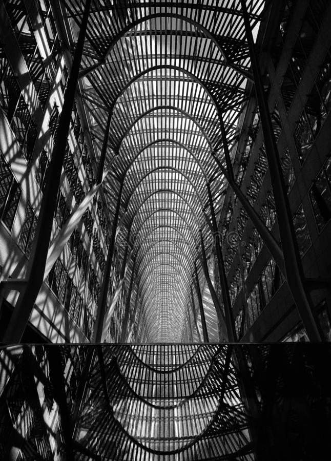 Allen Lambert Galleria or Brookfield Place BCE Place formerly royalty free stock photo