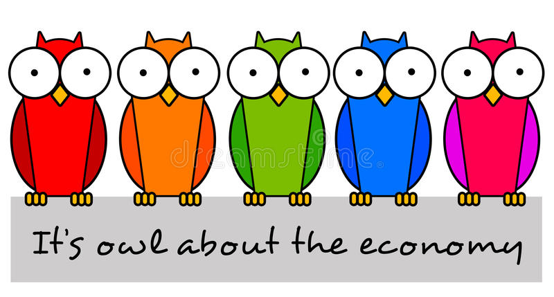 Allen over economie vector illustratie
