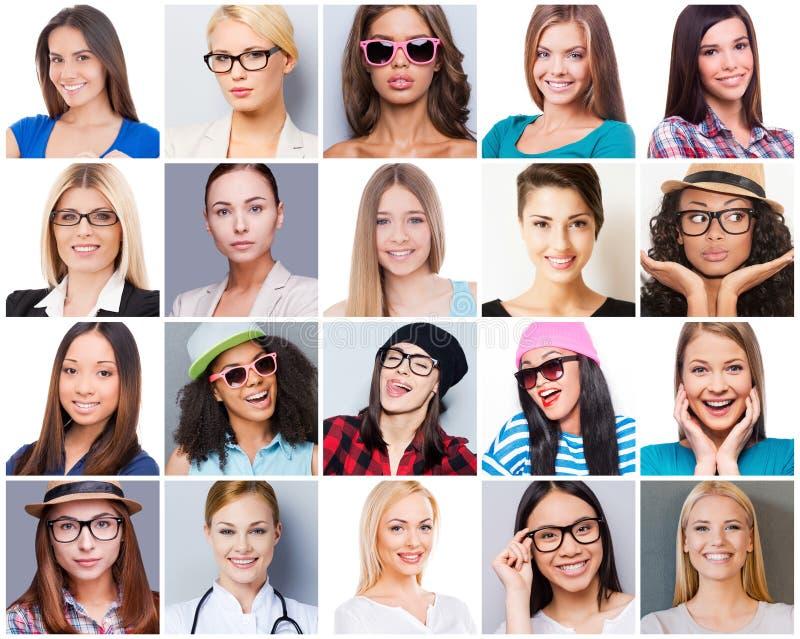 Allen over vrouwelijkheid stock afbeeldingen