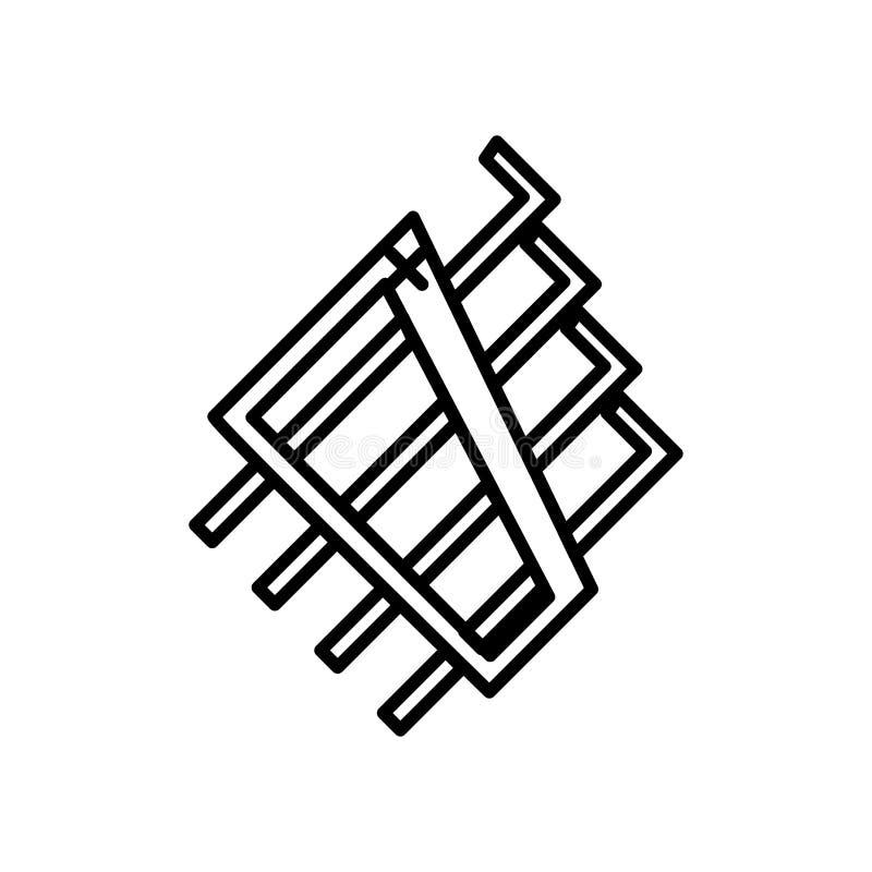 Allen-sluiten het het vectordieteken en symbool van het sleutelspictogram op witte achtergrond, Allen wordt geïsoleerd embleemcon vector illustratie