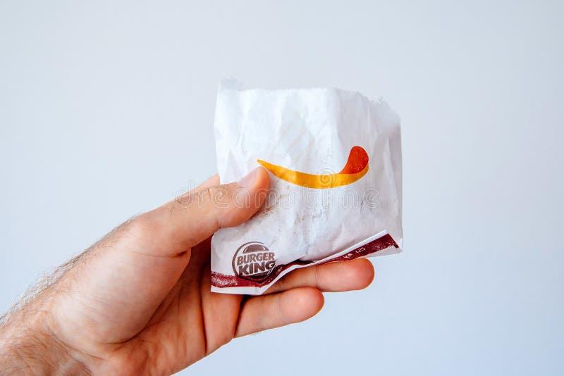 Allen u wenst is de Koningsrestaurant van gebraden gerechtenbuerger stock fotografie