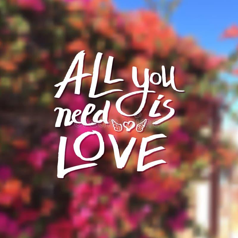 Allen u wenst is Liefde vector illustratie