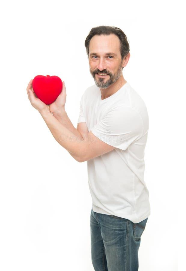 Allen u wenst is Liefde Liefde Problemen met hart Harttransplantatie De viering van de vakantie Mens met baard Decoratief voor royalty-vrije stock afbeelding
