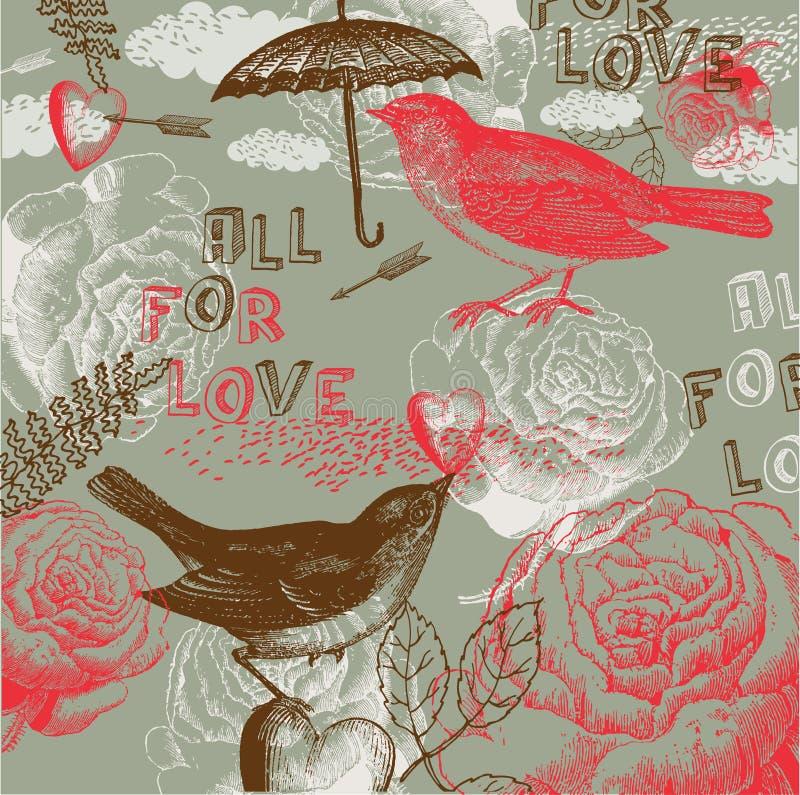 Allen voor de Achtergrond van de Liefde stock illustratie