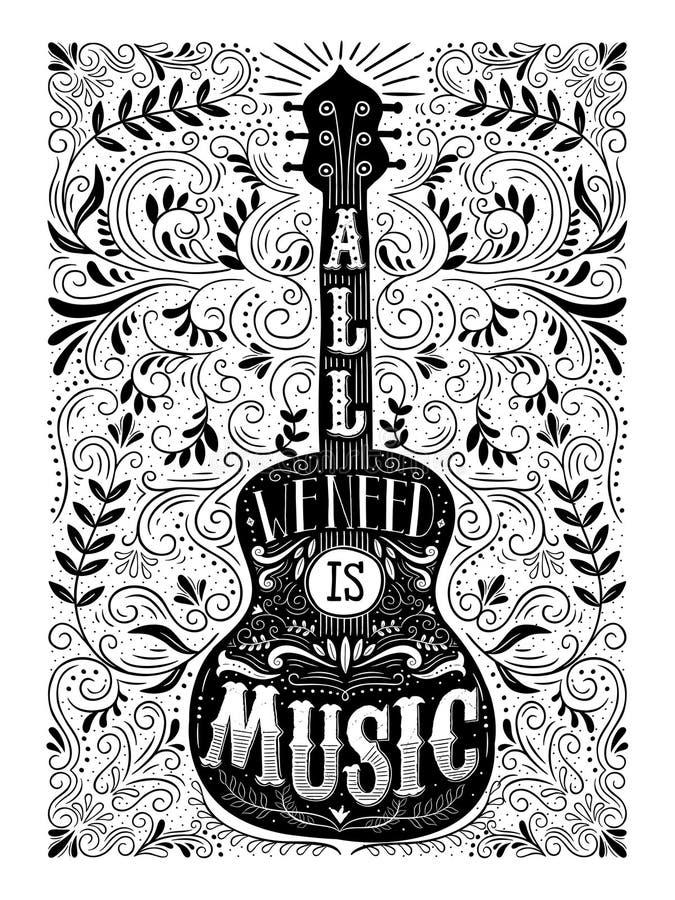 Allen wij wensen is muziek royalty-vrije illustratie