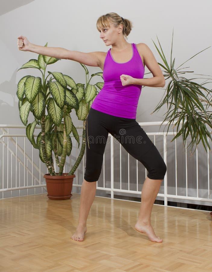 Allenamento 9 di forma fisica di Taebo immagine stock