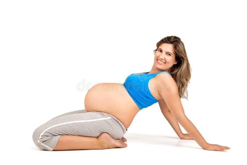 Allenamento di gravidanza immagini stock libere da diritti