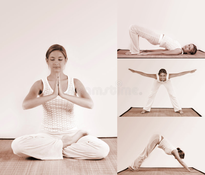 Allenamento di yoga immagini stock