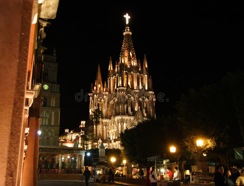 allende church de guanajuato Μεξικό Miguel parroquia SAN στοκ φωτογραφία με δικαίωμα ελεύθερης χρήσης