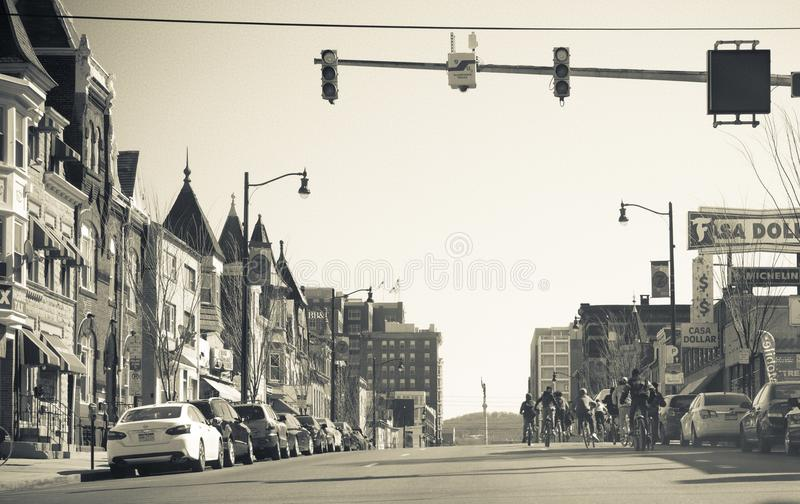 Allentown街市街道 免版税库存图片