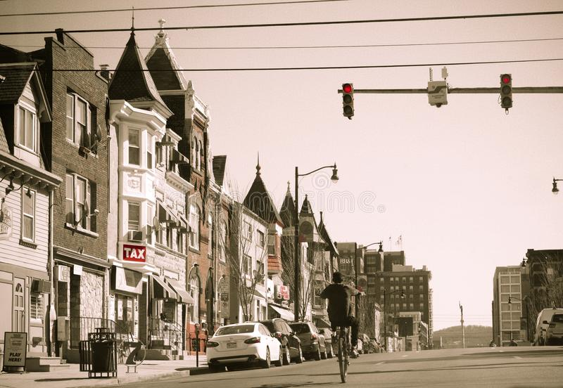 Allentown downtown street. Allentown, Pennsylvania, United States, March 18 2018: Allentown downtown street royalty free stock photography