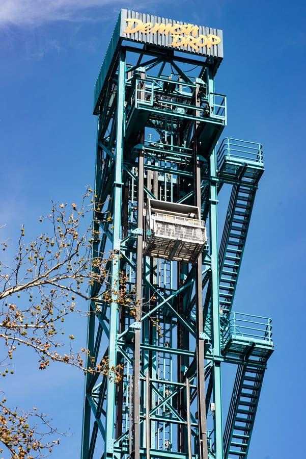 ALLENTOWN, PA - OCTOBER 22: Roller Coasters at Dorney Park in Allentown, Pennsylvania royalty free stock photos