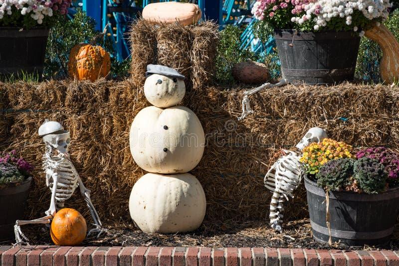 ALLENTOWN, PA - 22. OKTOBER: Halloween-Dekorationen an Dorney-Park in Allentown, Pennsylvania stockfotografie