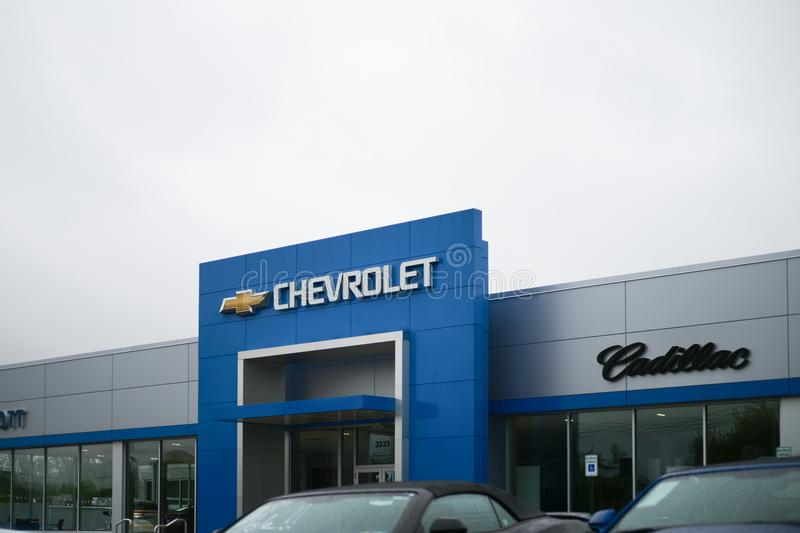 Chevrolet Automobile Dealership. Chevy is a Division of General Motors XIV royalty free stock images