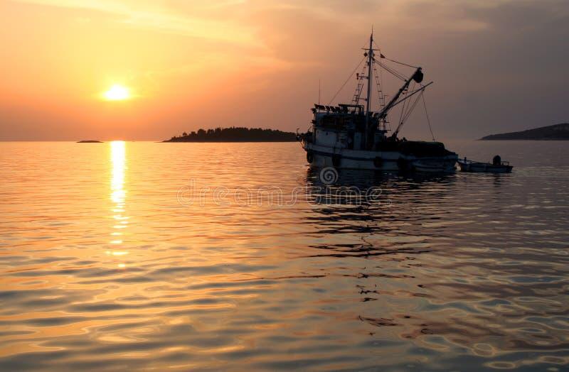Aller à la pêche image libre de droits