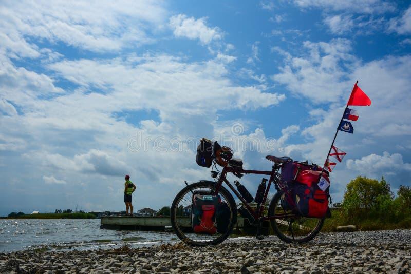 Aller à vélo - Mindfulness image stock