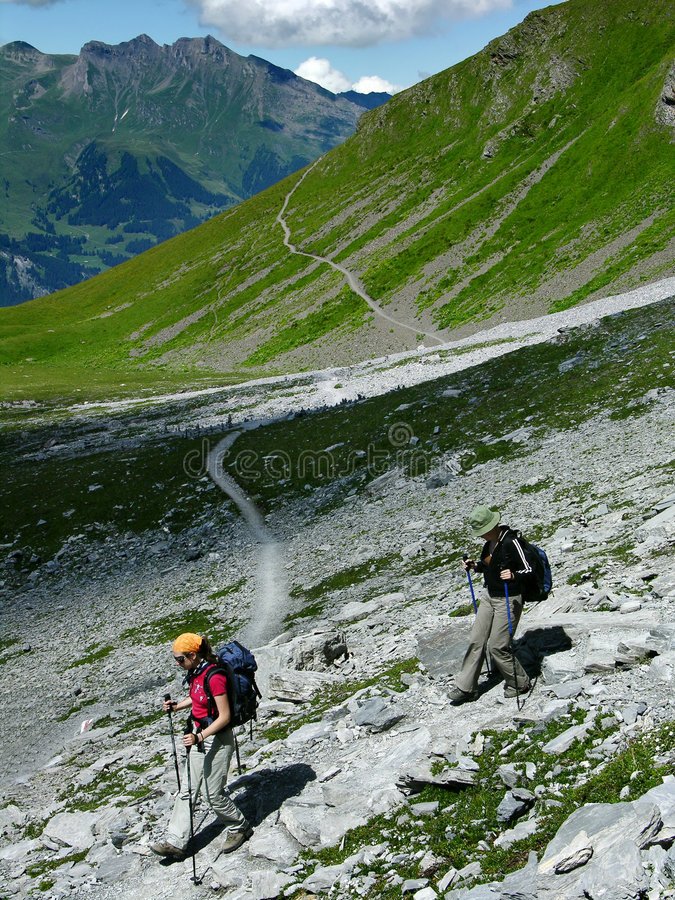 Aller Alterssport: Trekking stockfotografie