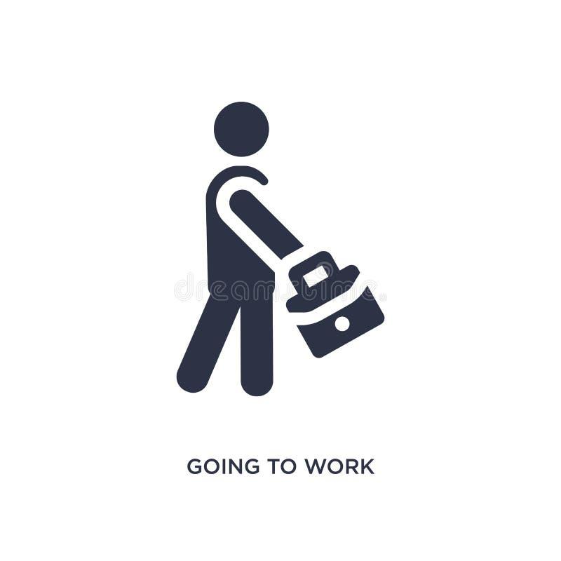 aller travailler l'icône sur le fond blanc Illustration simple d'élément de concept de comportement illustration stock