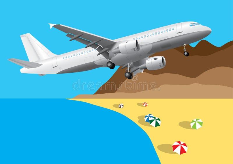 Aller vacation ! illustration libre de droits