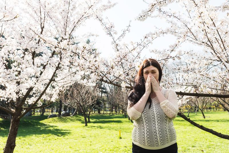 Allergia della primavera fotografia stock