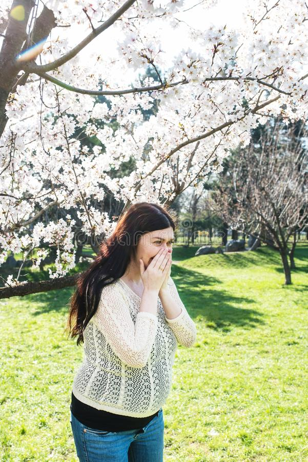 Allergia della primavera, polline fotografia stock