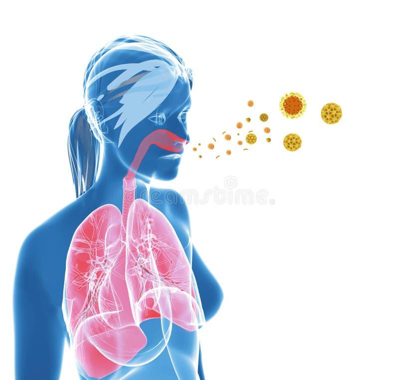 Allergia/raffreddore da fieno del polline royalty illustrazione gratis
