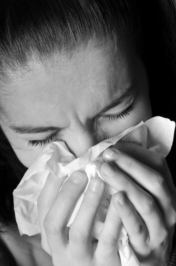 allergicoldinfluensa royaltyfria foton
