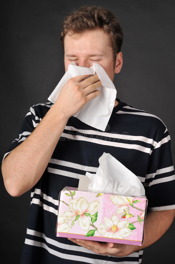 allergicoldinfluensa royaltyfri bild