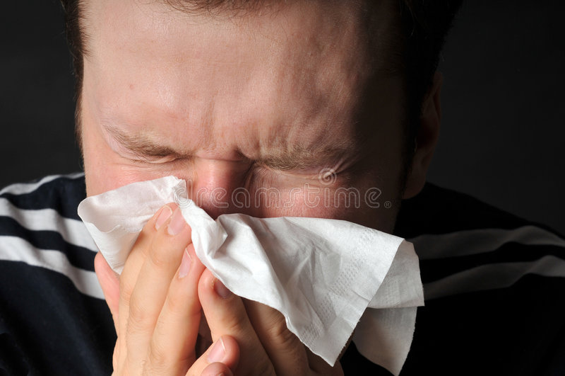 allergicoldinfluensa royaltyfri foto