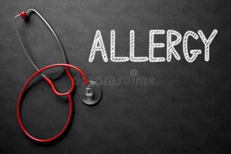Allergie handgeschrieben auf Tafel Abbildung 3D lizenzfreie stockbilder