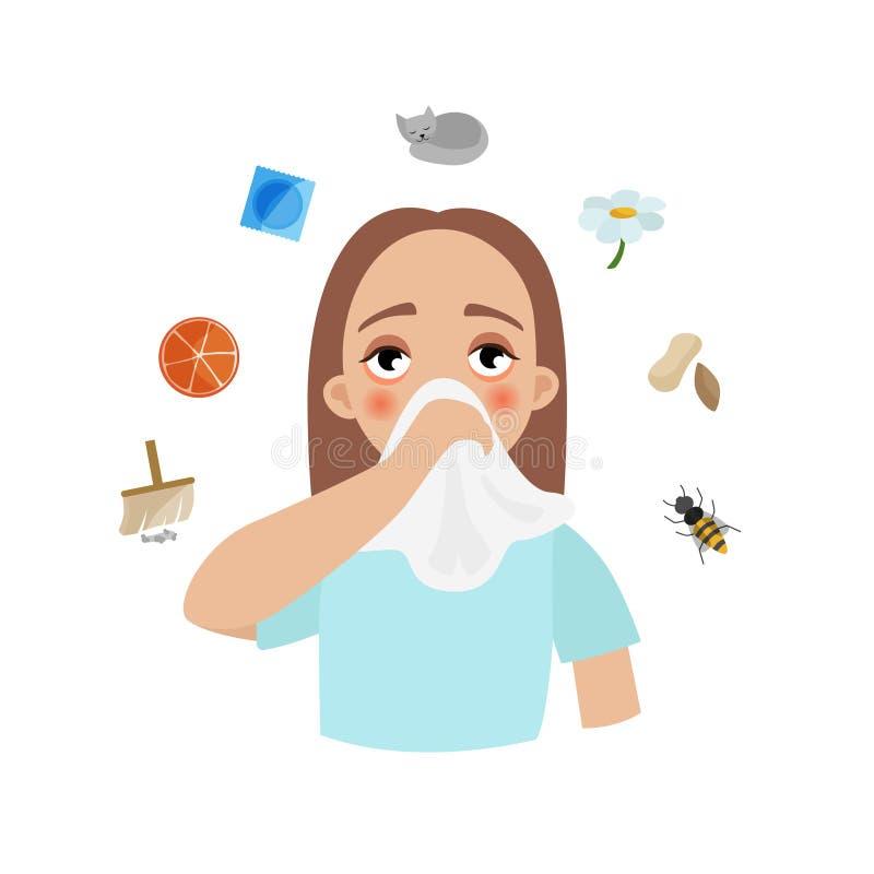 Allergie infographic illustration de vecteur