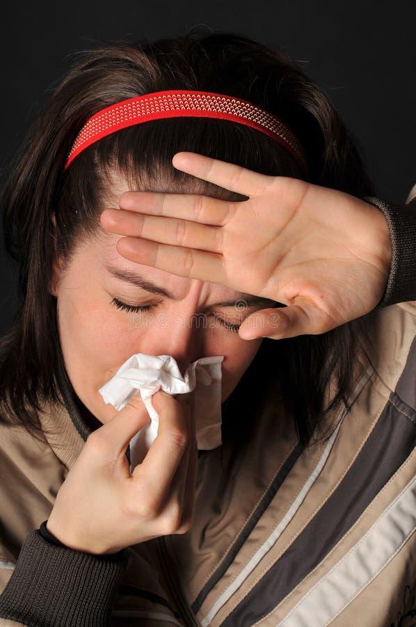 Allergiekältegrippe stockfoto